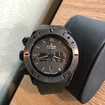 Edox Chronograph 45mm Quarz 2012 gebraucht Schwarz