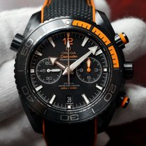 Omega Seamaster Planet Ocean Deep Black 600 M Chrono NEW