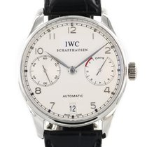 IWC Platinum Automatic Silver Arabic numerals 42.3mm pre-owned Portuguese Automatic