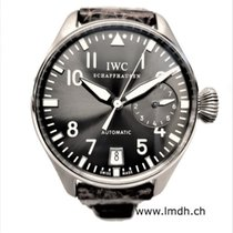 IWC White gold Automatic Grey pre-owned Big Pilot