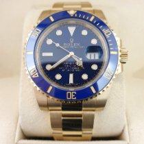 Rolex Submariner Date Aur galben 40mm Albastru Fara cifre