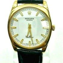 Rolex Cellini Жёлтое золото 35mm Белый
