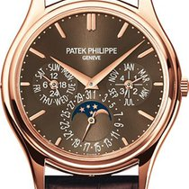 Patek Philippe Perpetual Calendar Rose gold 37.2mm Brown No numerals