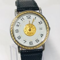 Hermès gebraucht Quarz 32mm Weiß Saphirglas