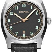 Eterna Heritage Military Steel 40mm Black