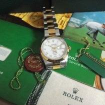 Rolex Datejust Zlato/Zeljezo 36mm Bjel Rimski brojevi