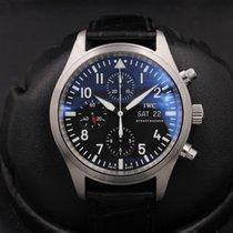 IWC Pilot Chronograph Stål 42mm Svart
