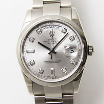 Rolex White gold Automatic 36mm pre-owned Day-Date 36