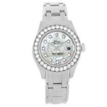 Rolex Pearlmaster Masterpiece 18k White Gold Diamond Watch 80299