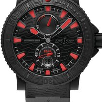Ulysse Nardin DIVER BLACK SEA Steel Dial Black And Red Rubber...