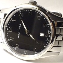 Hamilton Jazzmaster Thinline H38511133 HAMILTON JAZZMASTER Quarzo Nero 42mm new