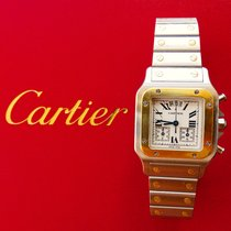 Cartier Santos (submodel) Gold/Steel 29mm White Roman numerals