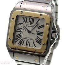 Cartier SANTOS 100 XL Ref-W200728G 18k Yellow Gold/Stainless...