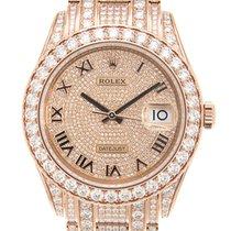 勞力士 Pearlmaster 18k Rose Gold With Diamonds Gold Automatic...