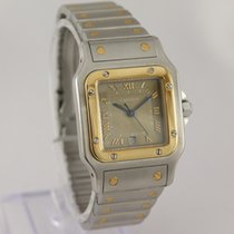 Cartier 1566 Gold/Steel Santos Galbée 29mm pre-owned