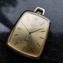Rolex Rare Solid 18K Gold Cellini Pocket Watch 3727 Hand-Wind...