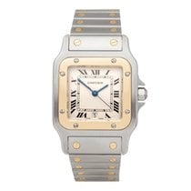 Cartier Santos Galbée Gold/Steel 18mm White Roman numerals