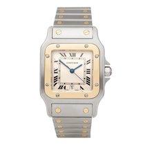 Cartier Santos Galbée Gold/Steel 18mm White Roman numerals United Kingdom, Bishop's Stortford