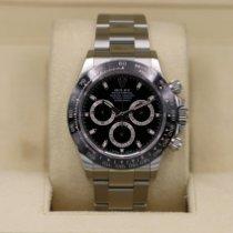 Rolex Daytona Steel 40mm Black No numerals