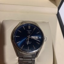 TAG Heuer Carrera Calibre 5 pre-owned 41mm Blue Date Weekday Steel