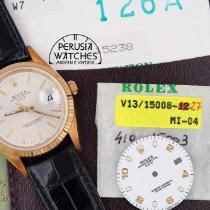 Rolex Oyster Perpetual Date 15238 Yeni Sarı altın 34mm Otomatik