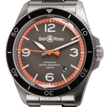 Bell & Ross BR V2 pre-owned 41mm Grey Date Fold clasp