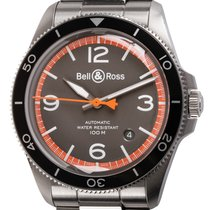 Bell & Ross Steel Automatic Grey 41mm pre-owned BR V2