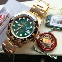 Rolex GMT-Master II Gelbgold 40mm Grün Keine Ziffern