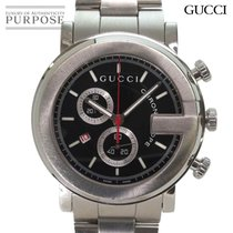Gucci G-Chrono Сталь 45mm Чёрный