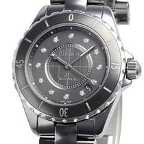Chanel Titanium Automatic Grey No numerals 38mm new J12
