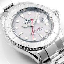 Rolex SS/Plat 40mm Yachtmaster Platinum Dial - 16622 model