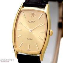 Rolex Vintage Cellini Ref-3807/8 18k Yellow Gold Box Papers...