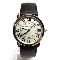 Cartier Ronde Solo Steel Automatic Men's Watch Cartier Leather...