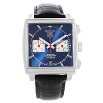 TAG Heuer Monaco Calibre 12 Blue Dial Chronograph Watch...