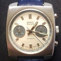 BWC-Swiss Chronograph 35mm Handaufzug gebraucht Weiß
