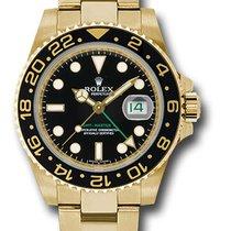 Rolex GMT-Master II Black Dial 18K Yellow Gold Oyster Bracelet