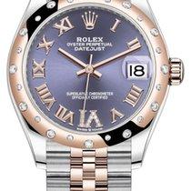 Rolex Datejust Ouro/Aço 31mm Violeta