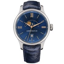 Aerowatch Renaissance Steel 40,00mm Blue Roman numerals