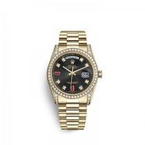 Rolex Day-Date 36 Or jaune 36mm Noir