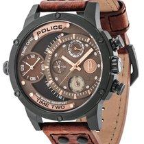 Police Stahl 50mm Quarz PL14536JSB.12A neu Deutschland, Simmerath