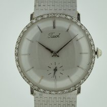 Tissot pre-owned Manual winding 32.5mm Silver Plastic
