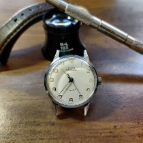 Elgin pre-owned Manual winding 35mm Silver Plastic Not water resistant