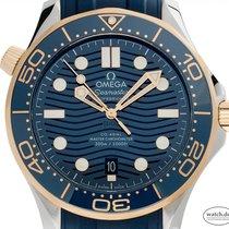Omega Seamaster Diver 300 M Acero y oro 42mm Azul