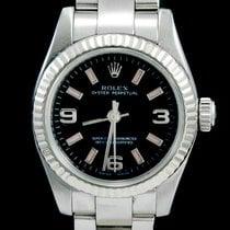 Rolex Oyster Perpetual 26 Acier 26mm Noir Arabes