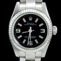 Rolex Oyster Perpetual 26 Staal 26mm Zwart Arabisch