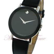Movado Sapphire, Black Museum Dial - Stainless Steel on Strap