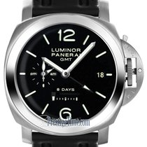 Panerai Luminor 1950 8 Days GMT Aço 44mm Preto