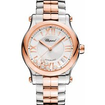 Chopard 278559-6002 Happy Sport Round 36mm in 2-Tone - on...