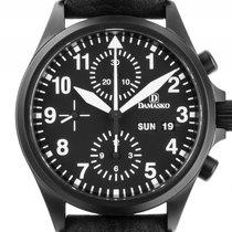 Damasko DC56 Stahl Black Automatik Chronograph Armband Leder...
