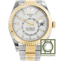 Rolex Sky-Dweller Gold/Steel 42mm White